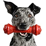 Pet Qwerks Bongo BarkBone Prime Rib Chew Toy - Tough Indestructible Extreme Power Chewer Bone, Designed for The Most Aggressive Chewers | Made in USA, FDA Compliant Nylon - for Small Dogs & Puppies