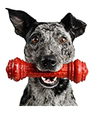Pet Qwerks Bongo BarkBone Prime Rib Chew Toy - Tough Indestructible Extreme Power Chewer Bone, Designed for The Most Aggressive Chewers   Made in USA, FDA Compliant Nylon - for Small Dogs & Puppies