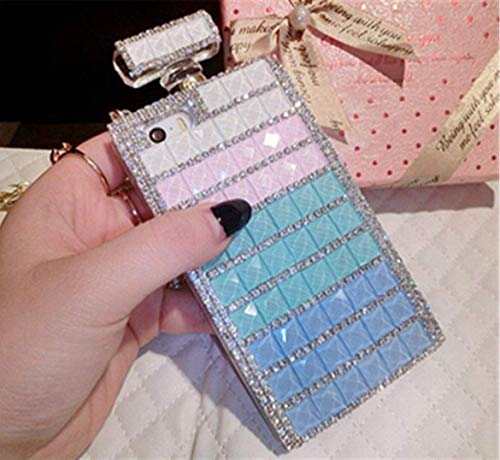 Fusicase for Galaxy Note 9 Perfume Case Luxury Shiny Crystal Sparkle Rhinestone Perfume Bottle Charming Bling Handmade 3D Diamond Bow Bowknot Glitter Cover for Galaxy Note 9