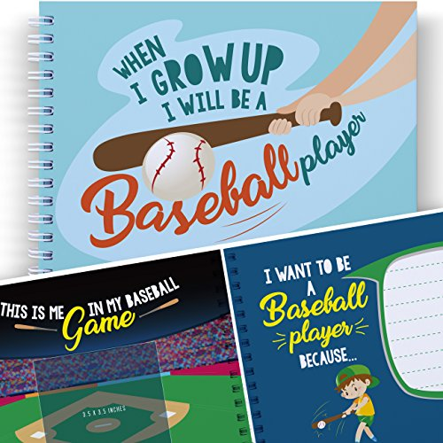 LITTLE KIDS BASEBALL - WHEN I GROW UP I WILL BE A BASEBALL PLAYER - Let's Write the Future with this Memory and Coloring Book for Kids. Child's Journal, Art - Sunglass Toronto Stores