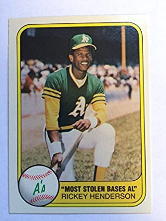 Amazon.com  1981 Fleer  351 Rickey Henderson NM M (Near Mint Mint ... 5bca3e29b