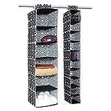 Campus Linens Hanging Storage Value Pak for College Dorm Storage (Color Black Lattice)