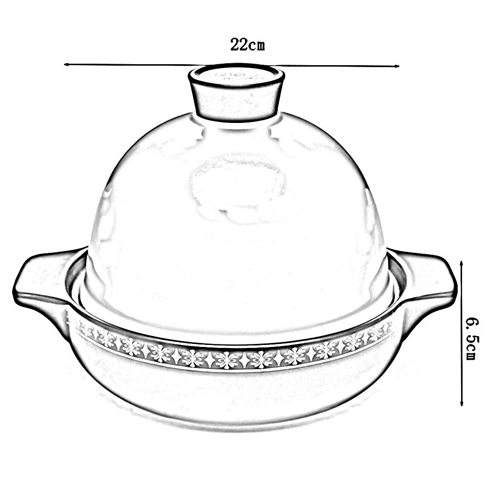 LiRuiPengSG GWDJ Auflauf, Claypot Reis Open Flame Flame Flame Keramik Ton Casserole Dedicated HochtemperaturBesteändigkeit Anti-Verbrühung Stein Topf Anti-Cracking Durable Creative Stewpan Stein Topf (Farbe   B) B07JVMCT82 Terrinen c0c873