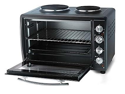 Miniküche mit backofen und herdplatten  Mini-Backofen mit 2 Kochplatten (Camping-Herd, Mini-Küche, 3100 Watt ...