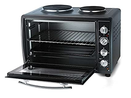 Miniküche mit backofen  Mini-Backofen mit 2 Kochplatten (Camping-Herd, Mini-Küche, 3100 ...