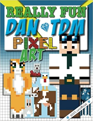 Really Fun Dan TDM Pixel Art Colouring Book 100 Unofficial Cool