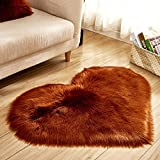 TAOtTAO Wool Imitation Sheepskin Rugs Faux Fur Non Slip Bedroom Shaggy Carpet Mats (C 40x50cm)