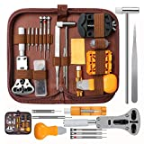 DIY Watch Repair Tool Kit, Kingsdun Upgraded Version 168pcs Watches Band Strap Link Pins Battery Remover Replacement Adjustment Repair Tools Kits with Carrying Case & Manual