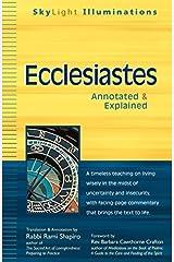 Ecclesiastes: Annotated & Explained (SkyLight Illuminations) Paperback
