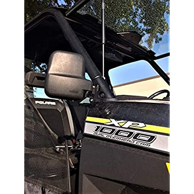 Folding Side View Mirror Set for Polaris Ranger 1000XP 2020+(Will Work With Factory Doors Installed): Automotive