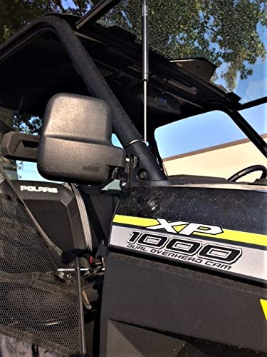 Folding Side View Mirror Set for Polaris Ranger 1000XP 2018+(Will Work With Factory Doors Installed)