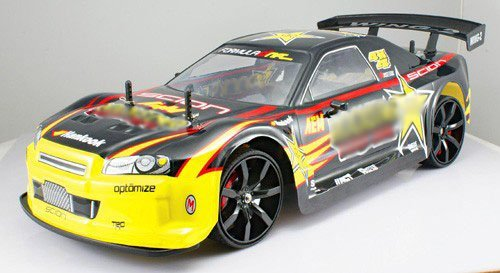 - 514tXgrZ3oL - 1/10 scale of 4 Wheel Drive (4WD) DRIFT R/C RACING CAR Rockstar radio remote control rc vehicle auto automobile MC02-G by AZ Importer