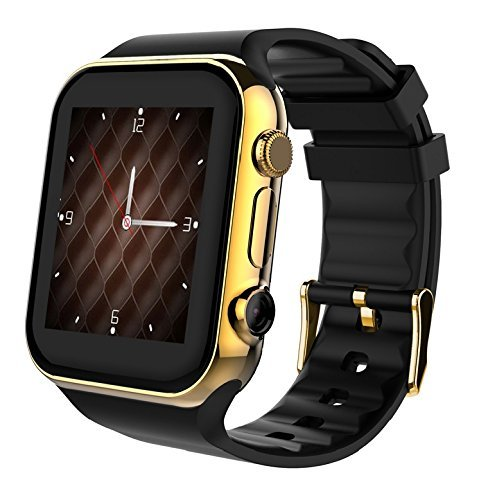 Scinex SW20 16GB Bluetooth Smart Watch GSM Phone for iPhone & Android – US Warranty (Gold/Black)