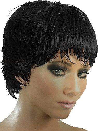 Punk Rocker The Rockette Women's Black Wig Costume Accessory