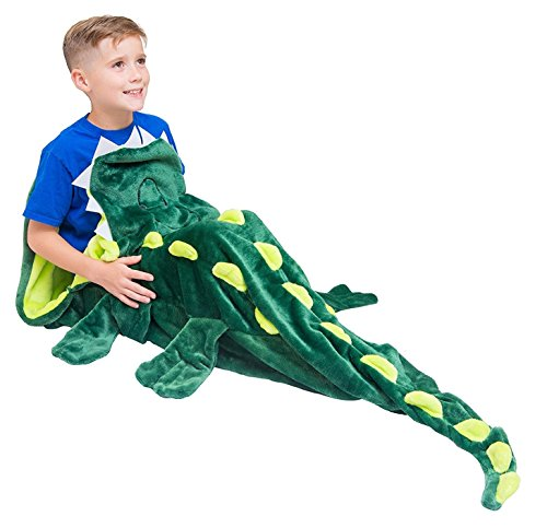 Cozy Crocodile Blanket For Children, Pocket Style Kids Tail Blanket Made of Extra-Soft and Durable Fabric | Aligator Design | Warm and Comfortable, Sleep Sacks for Movie Night, Sleepovers, Camping -