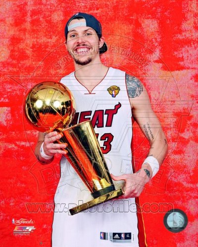 Mike Miller Miami Heat 2012 NBA Championship Trophy 8x10 - Miller Mike Nba