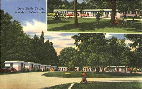 Devi-Dells Court, U. S. Highway 12 Baraboo, Wisconsin Original Vintage - Baraboo Dells