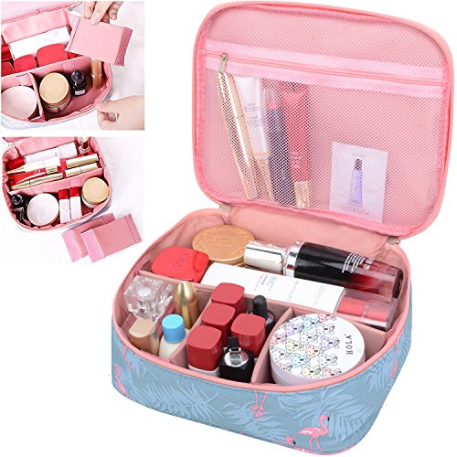 Cosmetic Bag Lipstick - MKPCW Portable Travel Makeup Cosmetic Bags Organizer Multifunction Case for Women (Color1)