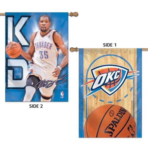 NBA Oklahoma City Thunderフラグ2 Sidedケビンデュラント垂直バナー28 x 40 2014デザイン   B00ICOUPRY