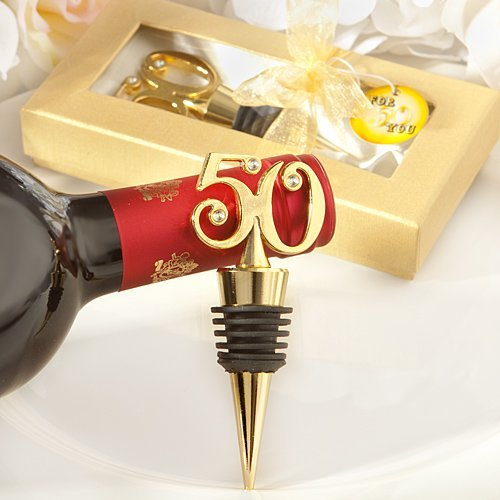 72 Golden 50 Wine Bottle Stoppers