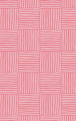 Pink Salmon Stripe Weave - Lined Notebook with Margins - 5x8: 101 Pages, 5 x 8, College Ruled, Journal, Soft Cover - Salmon Stripe