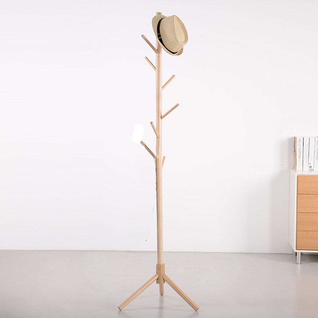 Perchero Soporte de madera sólida Rack, Piso Dormitorio Simple Rack de ropa Europea Moderno Creativo percha,Gancho de ropa ( Color : #3 , Estilo : B )