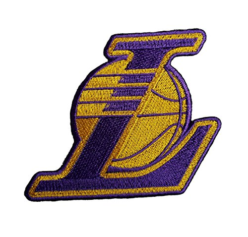 - Lakers Basketball Fully Embroidered Iron On Patch 3.25