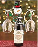 Holiday Snowman Wine Bottle & Glass Holder by LTD