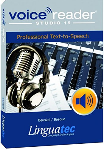 - Voice Reader Studio 15 Beuskal / Basque - Professional Text-to-Speech Software (TTS) / Convert any text into audio / Natural sounding voices / Create high-quality audio files / Large variety of applications: E-learning; Enrichment of training documents or advertising material; Traffic announcements, Telephone information systems; Voice synthesis of documents; Creation of audio books; Support for individuals with sight disability or dyslexia / Contains 1 female voice
