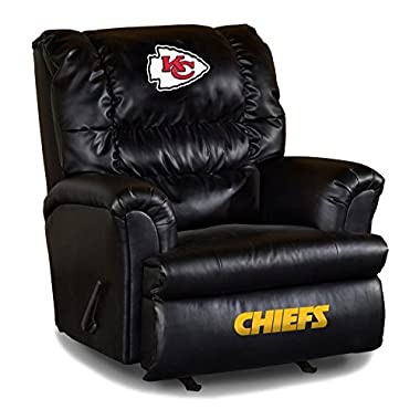 Imperial Officially Licensed NFL Furniture: Big Daddy Leather Rocker Recliner, Kansas City Chiefs