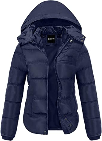 3XL Black Navy Mens Down Feel Puffer Quilted Padded Coat Jacket Winter Warm S