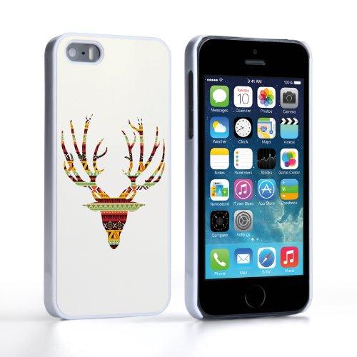 Caseflex Coque iPhone 5 / 5S Etui Aztec Cerf Dur Housse