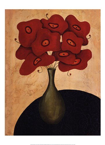 Bouquet Rouge by Jocelyne Anderson-Tapp - 20x28 Inches - Art Print Poster