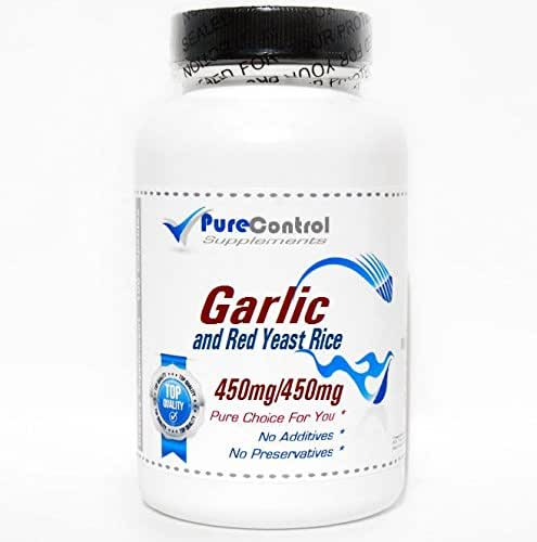 Garlic and Red Yeast Rice // 180 Capsules // Pure // by PureControl Supplements
