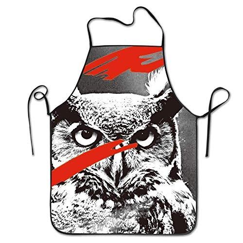 Owl Fashion Snowy Horned Women Great Kitchen Bib Apron 8O0vNmnyw