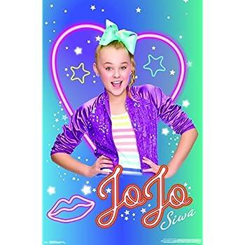 "Trends International JoJo Siwa-Neon Wall Poster, 22.375"" x 34"", ..."