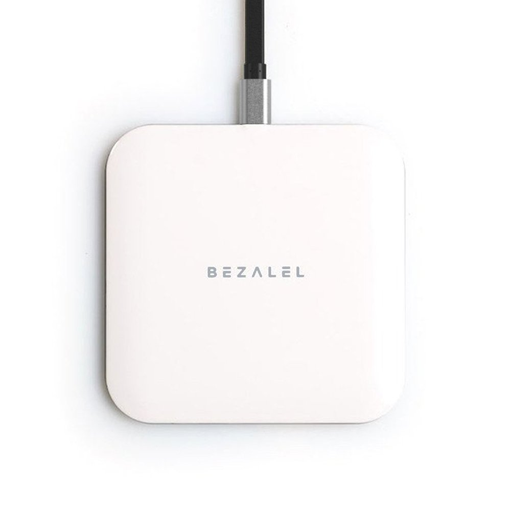 BEZALEL Futura X 10W Fast Charge Charging Pad Compatible with iPhone 11/11 Pro/11 Pro Max/XS/XR/XS Max/X/8 Plus Galaxy S10/S9/S8 Note 10/9/8 LG G6/G7/V30/V40, 5W for Pixel 3XL - White (Qi-Certified)