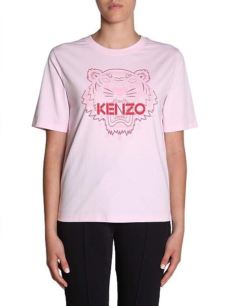 Kenzo Mujer F952TS7214YB33 Rosa Algodon T-Shirt: Amazon.es ...