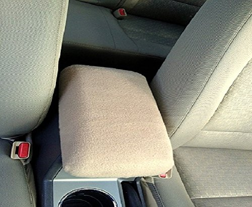 Car Console Covers Plus Custom Fits Toyota Camry 2018 Fleece Center Armrest Cover for Center Console Lid (Camry Toyota Armrest)