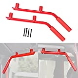 ICars Grab Bar Rear Grab Handle for 2007-2016 Jeep JK Wrangler Unlimited Accessories 2 & 4 Door - 1 Pair (Red)