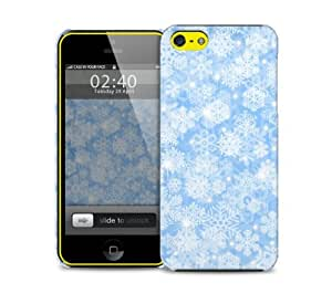 snow flakes blue iPhone 5c protective phone case
