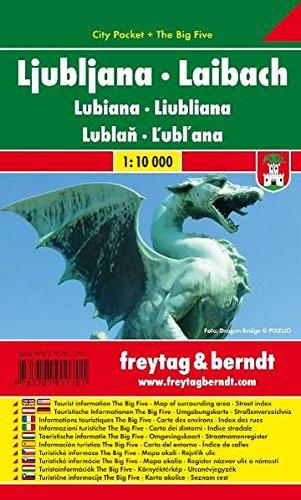 Ljubljana City Pocket Map 1:10K (Slovenia) (English and German Edition)...