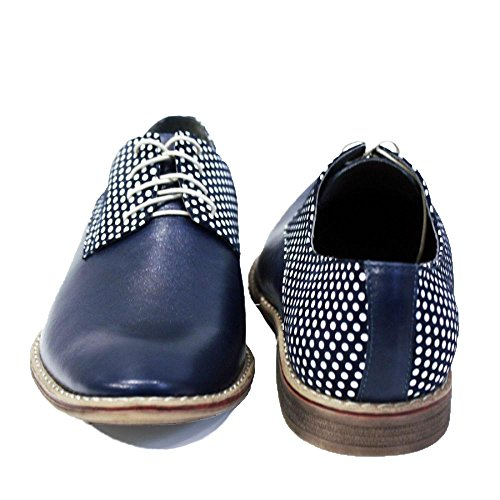 Modello Cavalieri - Handmade Colorful italiennes Chaussures en cuir Oxfords Casual Souliers de Formal Prime Unique Vintage Gift Lace Up Robe Hommes