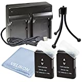 Battery for Nikon EN-EL14/EN-EL14A ,Compatible with Nikon Coolpix P7000, P7100, P7700, P7800, D3100, D3200, D3300, D5100, D5200, D5300, D5500, DF ,Digital SLR Camera (2 batteries+dual charger)