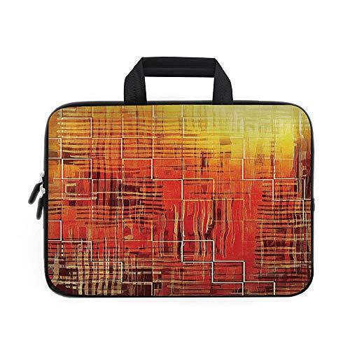 Funda de neopreno para portátil, color naranja quemado, textura de lava quemada caliente, llamas de fuego, imagen de magma...