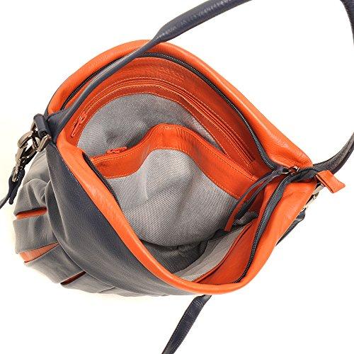 berba Zürich 610 Schultertasche in navy - orange