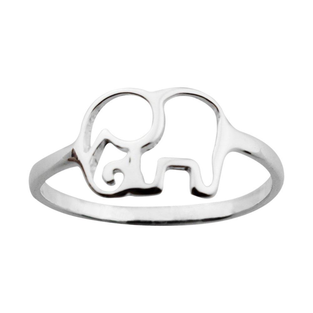 ELBLUVF 925 Sterling Silver Elephant Animal Lucky Ring Jewelry Bridesmaid Gift Favor U23HJ7JUM9