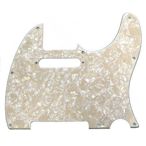 Fender Modern Pickguard, Telecaster, 8-Hole - Aged White Moto