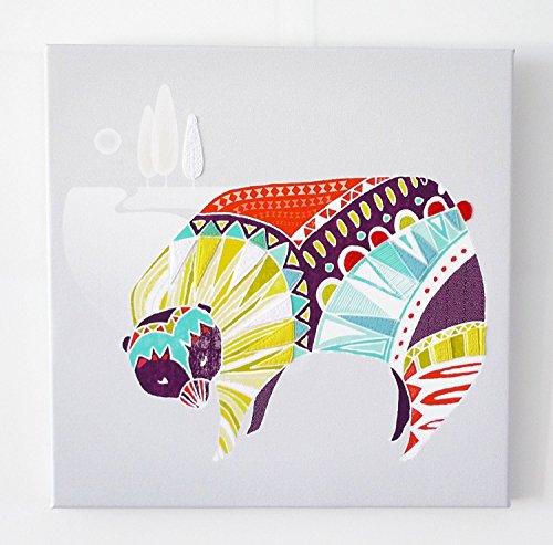 Hare Framed Print (Bear Canvas Wall Art, Colorful Animal Framed Print)