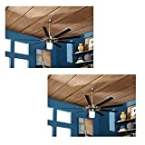 Set of 2 Harbor Breeze Slinger 72-in Brushed Nickel Downrod Mount Ceiling Fan with Light Kit and Remote ENERGY STAR